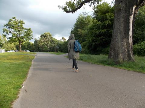Picture of homeless person in park