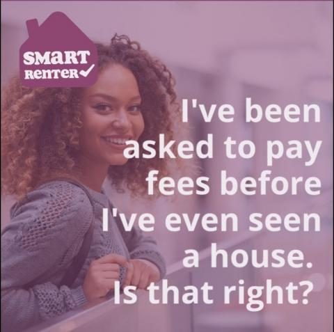 Picture of renter with SmartRenter logo